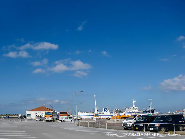 船着き場は離島ターミナルからかなり離れている