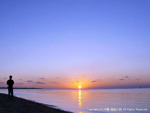 竹富島のアイヤル浜から