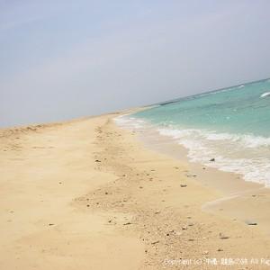 海に囲まれたハテの浜