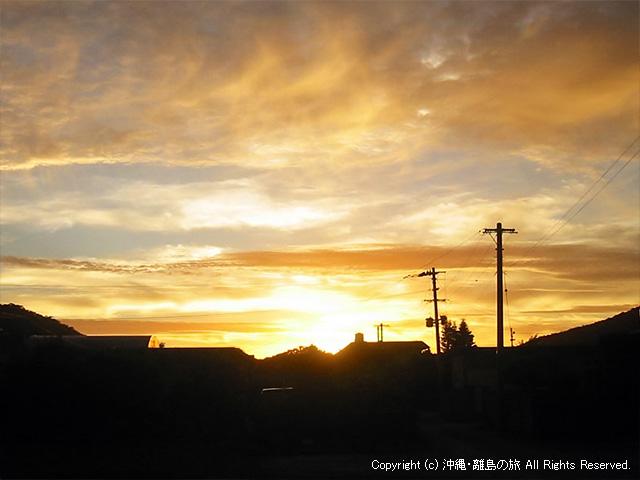 伊平屋島の夕焼け