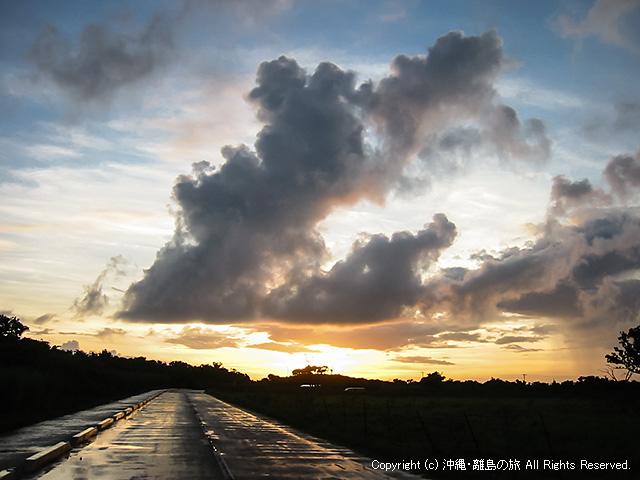 雨上がりの外周道路