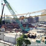 工事期間中の那覇バスターミナル