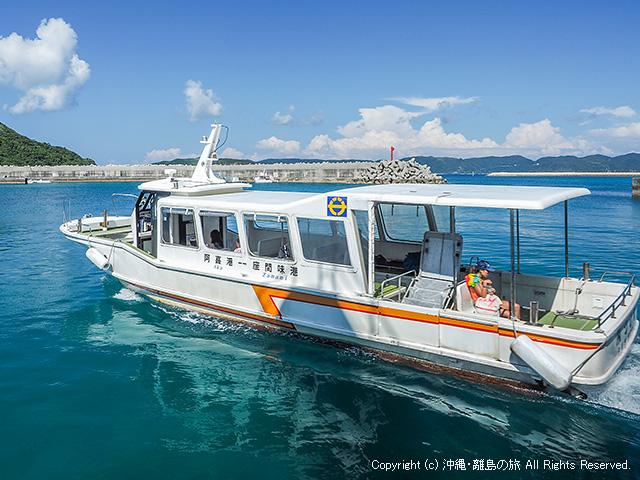 座間味島と阿嘉島、渡嘉敷島を結ぶケラマ航路の船「みつしま」