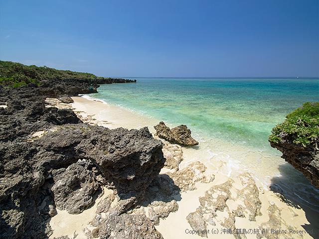 心地よい広さのビーチ