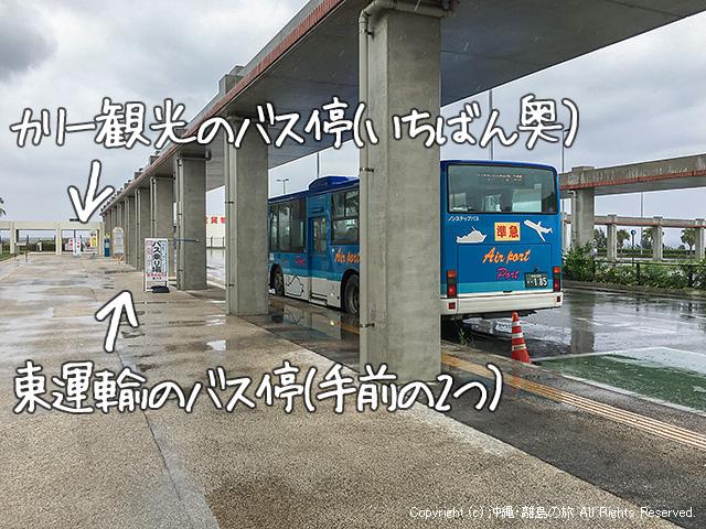 新石垣空港のバス停