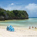 瀬底島の穴場的なビーチのアンチ浜