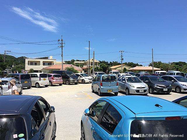 無料駐車場は激混み