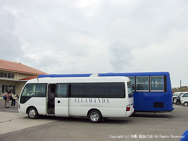 リゾートホテルの送迎バス