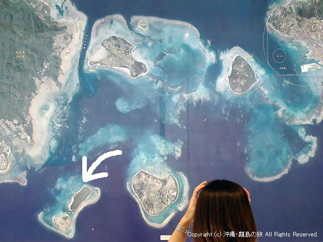航空写真で見る新城島の位置