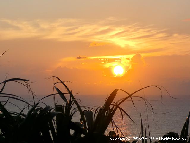 日本最西端で日本最後の夕陽