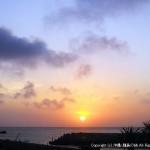 あがり浜から臨む日の出