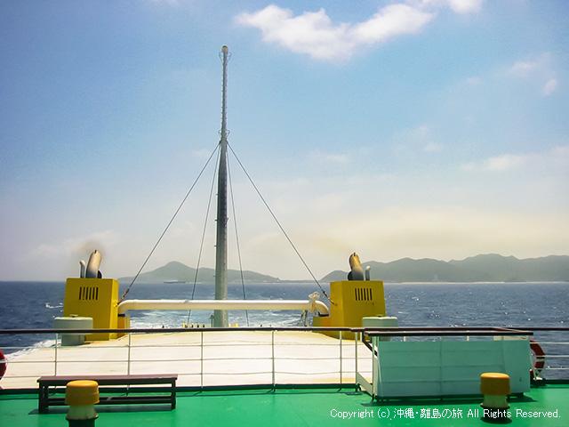 渡名喜島を発つ