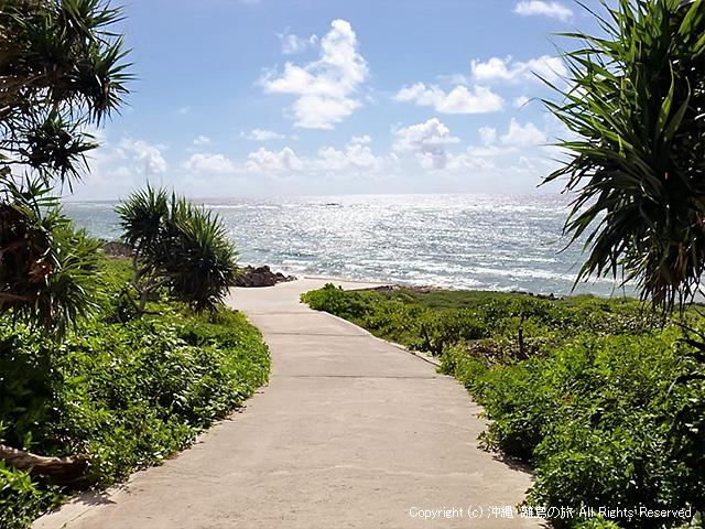 ピザ浜へ通じる道