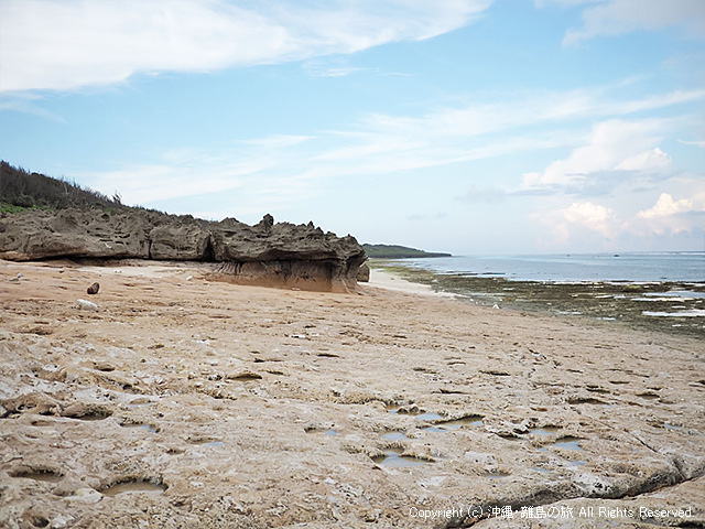砂の無いピザ浜