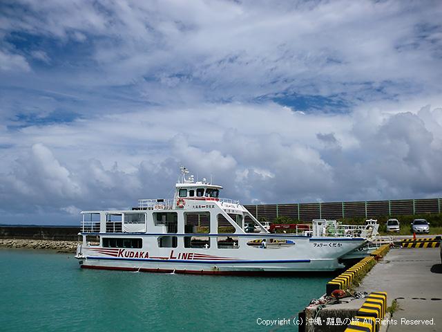 安座真港からフェリーで久高島へ