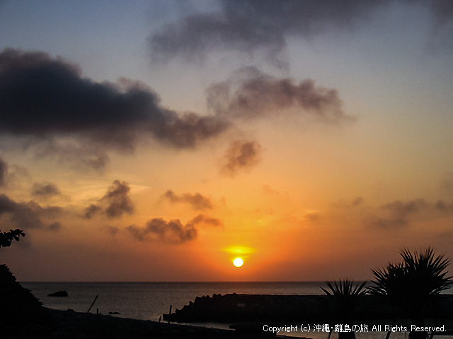 あがり浜から望む日の出
