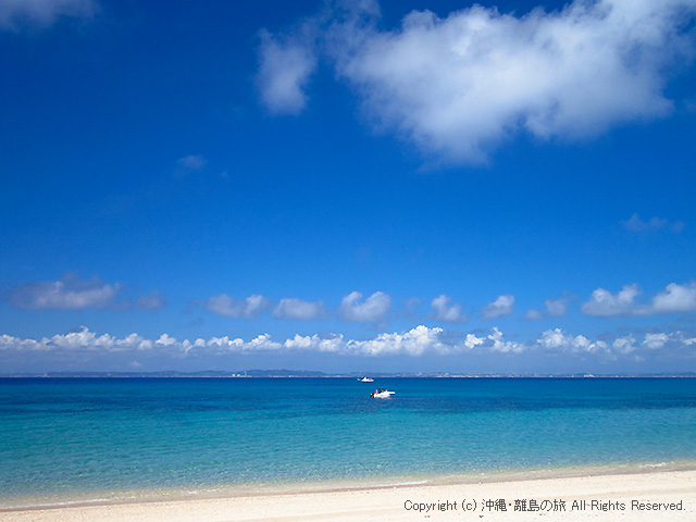 すぐそばはトゥマイ浜(津堅島ビーチ)