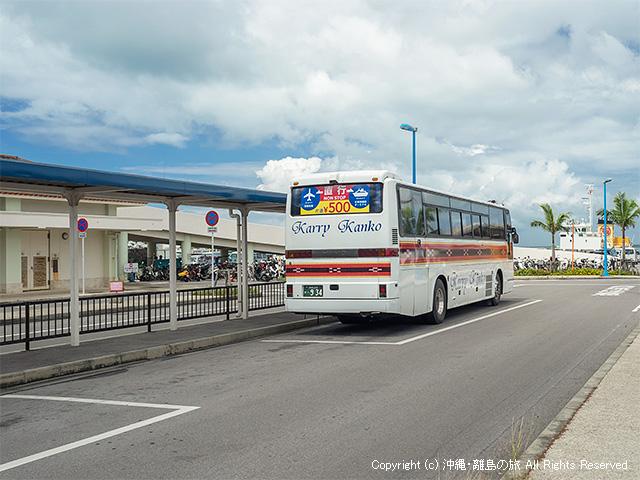 カリー観光の石垣港離島ターミナルのバス停